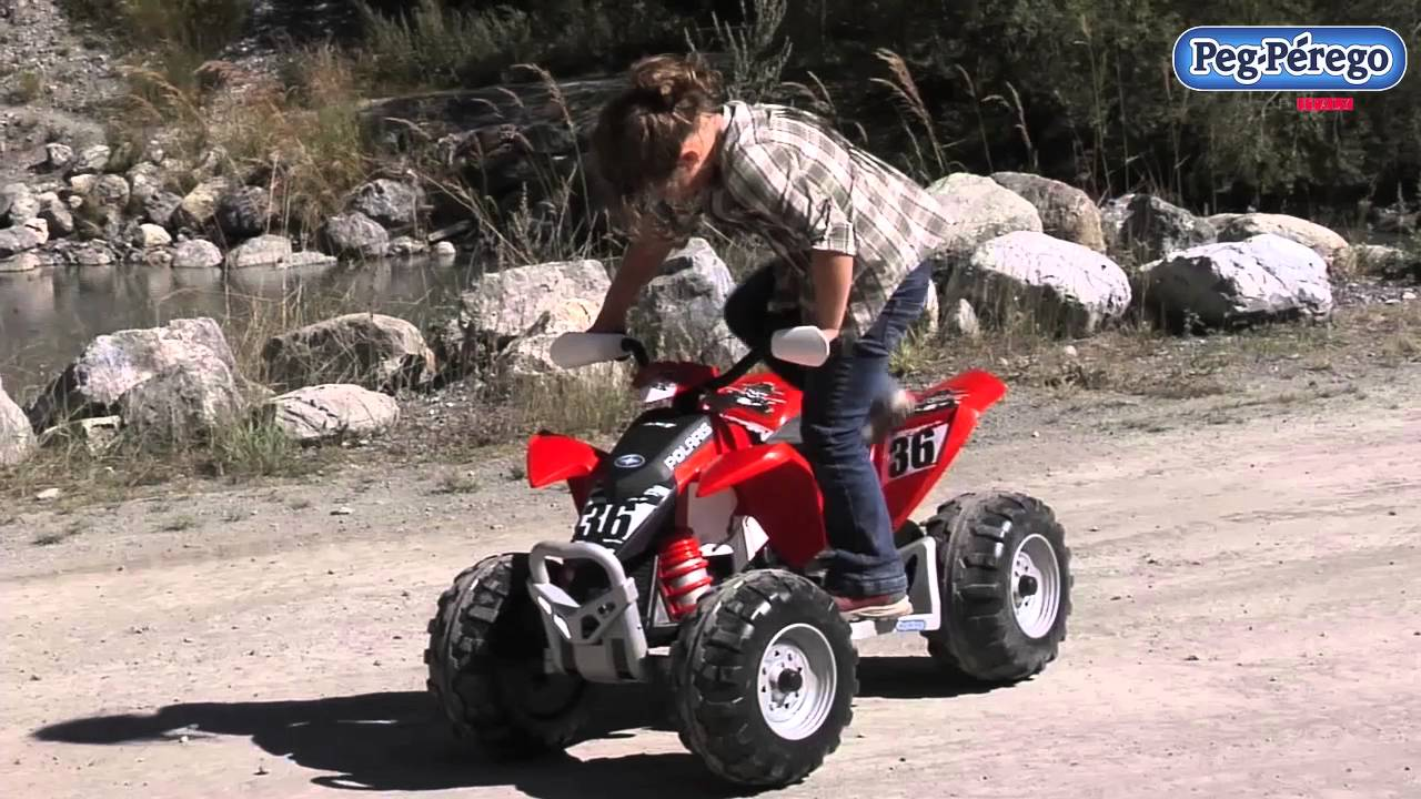 Peg Perego Polaris Outlaw - YouTube