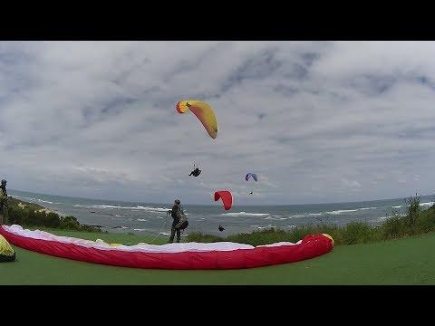 171102 Paragliding Flinders Golf Course Victoria Australia - Morning