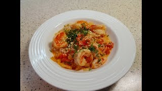Низкоуглеводная паста с креветками. Диетические спагетти ширатаки.