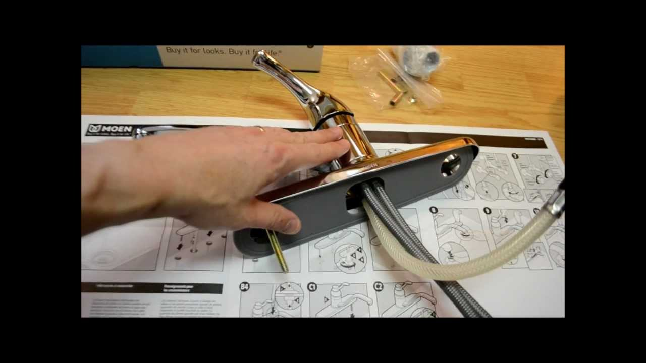 attractive Change Kitchen Faucet #5: How to Install a Kitchen Faucet (Removal u0026 Replace) Installation - YouTube