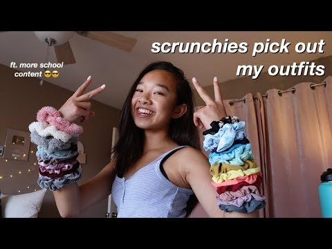Scrunchies Pick Out My Outfits! | Nicole Laeno