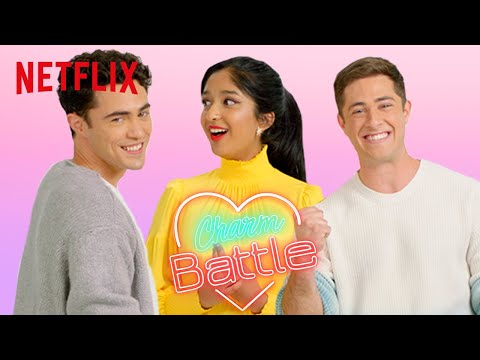 Never Have I Ever Cast Try Pick Up Lines on Each Other | Charm Battle | Netflix