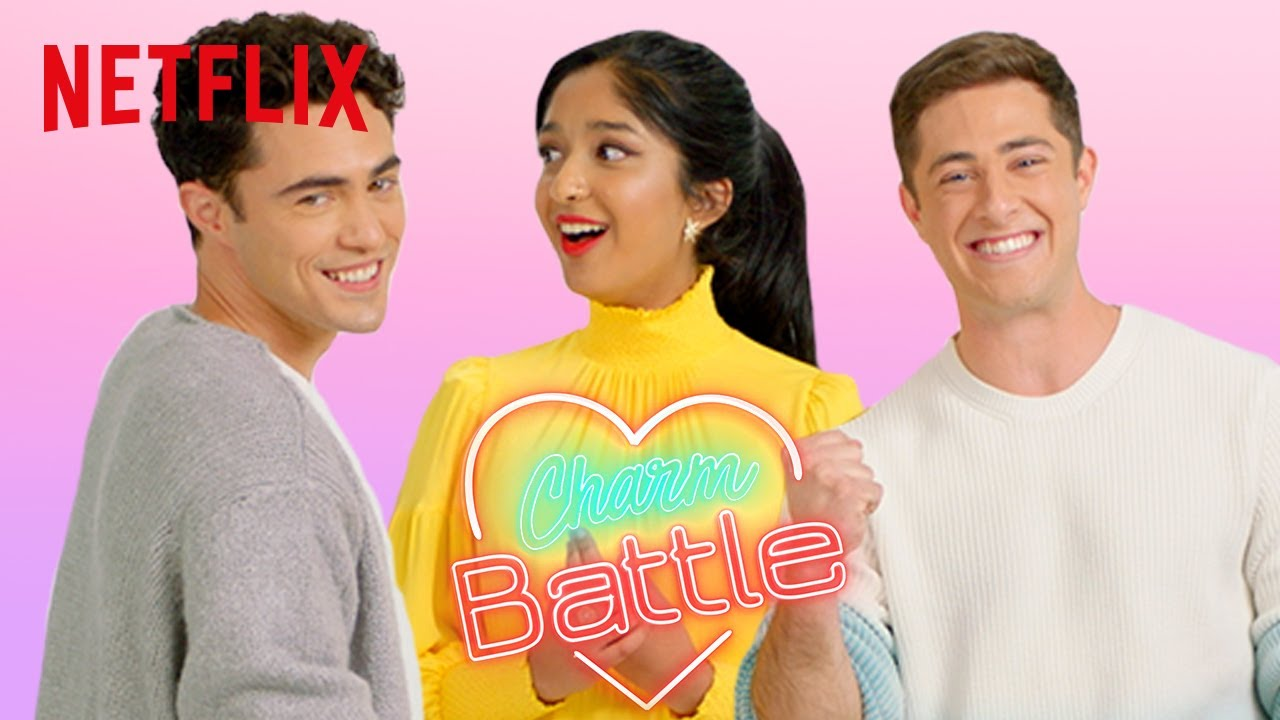 Download Never Have I Ever Cast Try Pick Up Lines on Each Other | Charm Battle | Netflix