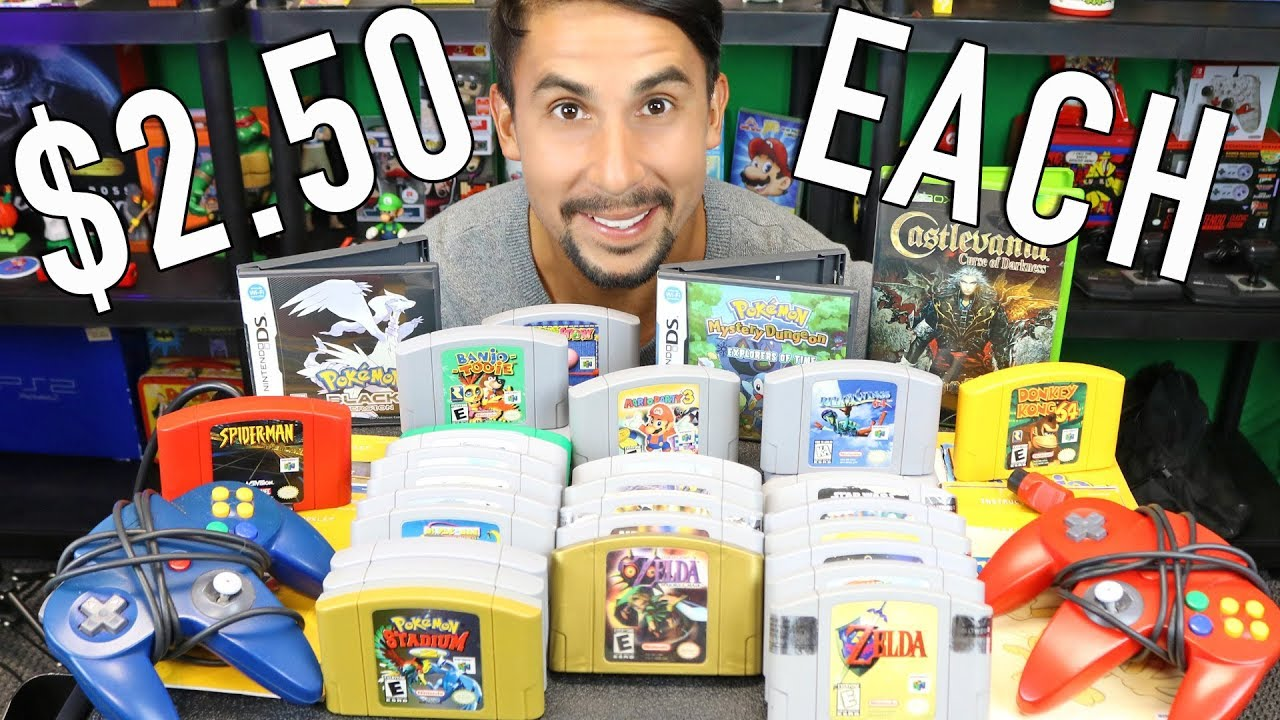 How I got ALL these GAMES for $2.50 EACH – CRAZY N64 bundle – Behind the Find