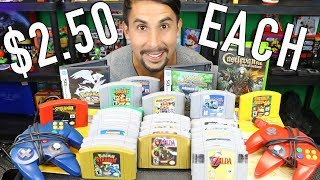 How I got ALL these GAMES for $2.50 EACH - CRAZY N64 bundle - Behind the Find