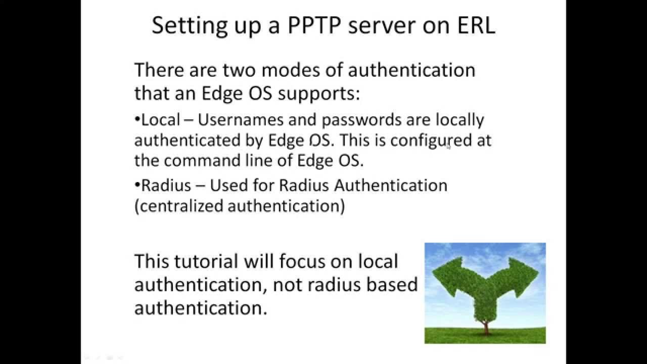 Setting up a PPTP VPN Server on EdgeRouter or Linux