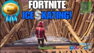 "ICE SKATING! (""FREEZE TRAP"" STUNT RAMP) - FORTNITE BATTLE ROYALE"