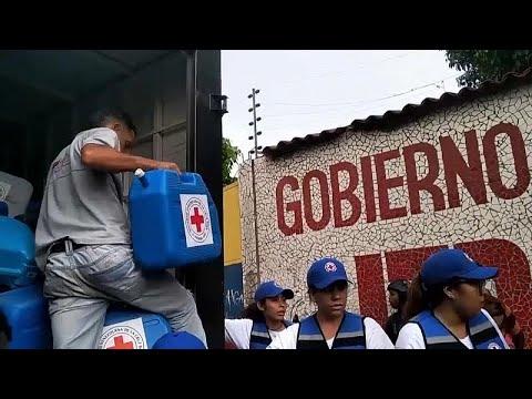 Llega a Venezuela ayuda humanitaria de Cruz Roja