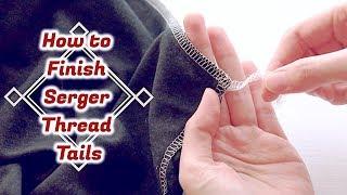 How to Finish Serger Thread Tails // Sewing Tutorialㅣmadebyaya