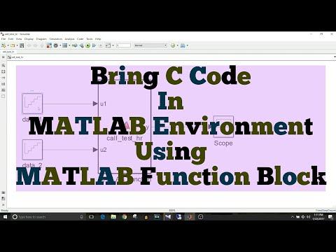 Simulink Tutorial - 37 - Use C Code Using MATLAB Function