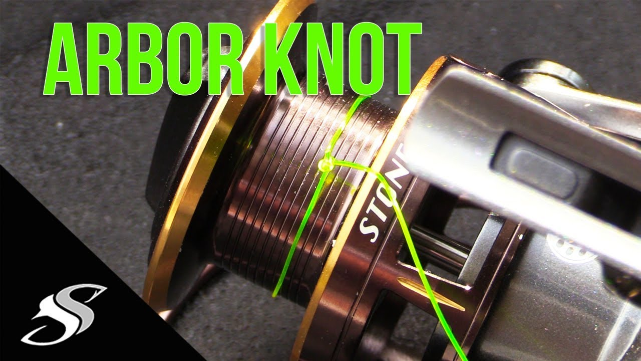 How to tie line to reel spool arbor knot tutorial youtube for Tying fishing line to reel