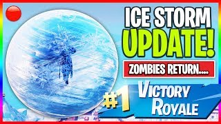 "🔴 NEW ""Ice Storm"" Map Update in Fortnite! // NEW Skins // 1000+ Wins (Fortnite LIVE Gameplay)"