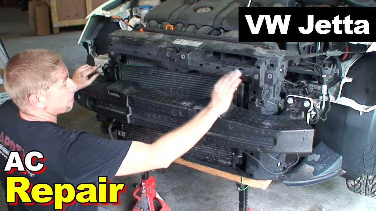 2012 VW Jetta AC Condenser and Compressor - YouTube