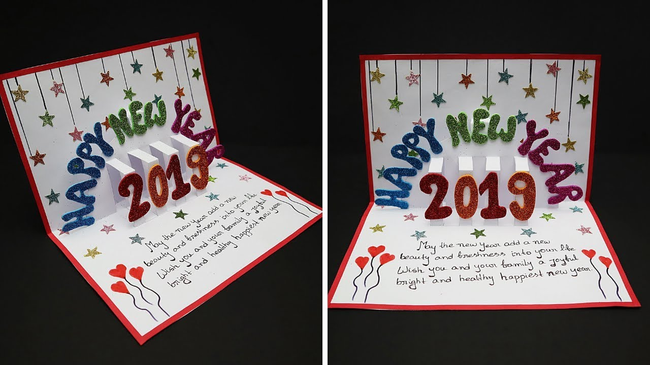 diy new year pop up greeting cards 2019 how to make new year pop up card handmade cards