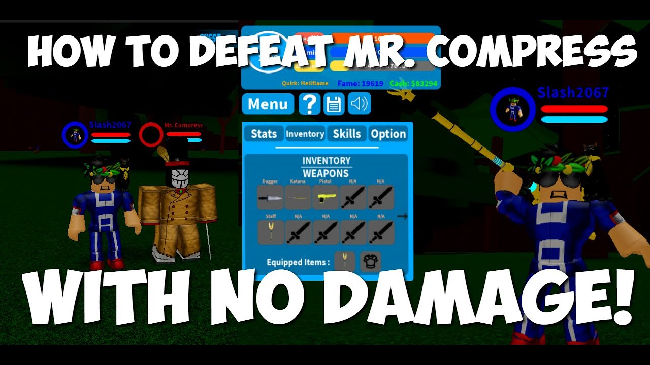 New 125k Code How To Defeat Mr Compress With No Damage Boku No Roblox Remastered