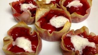 Weight Watchers Dessert Recipe - Mini Cherry Pies!!! Only One Points Each - Quick & Easy!