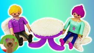 Meble dla ludzików Playmobil | meble z Foam Clay i Silk Clay | stół i krzesła