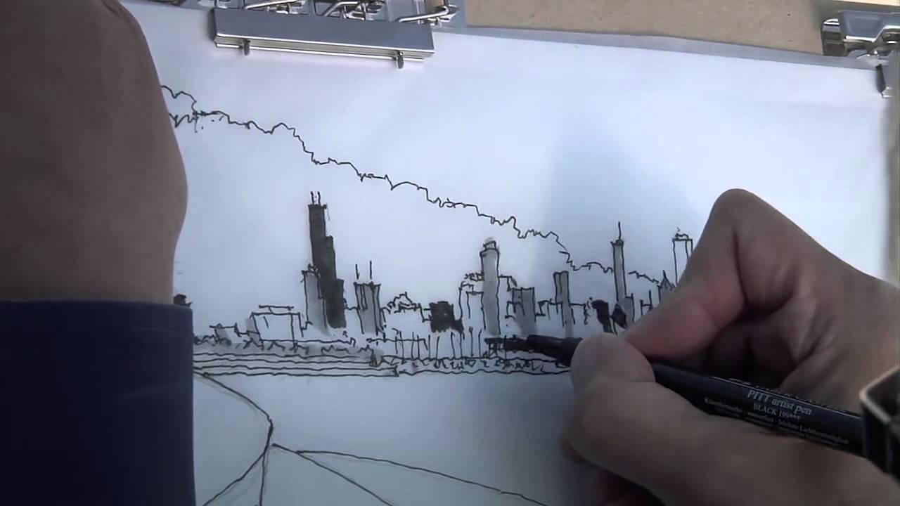 Free hand drawings of an architect youtube Online architecture drawing
