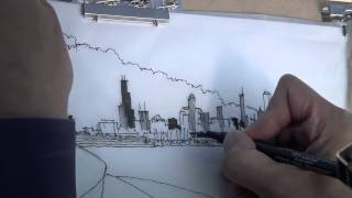 free hand drawings of an architect