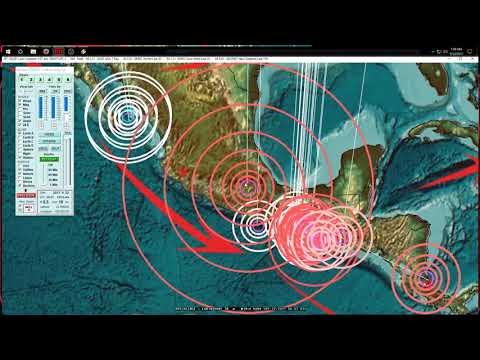 9/22/2017 -- Gulf of California / Baja Mexico Earthquake (M5.5 / M5.9) -- Forecast area direct hit - 동영상