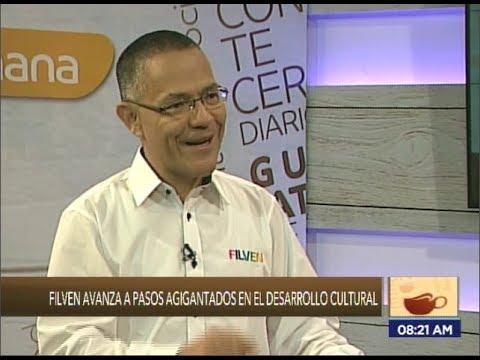 Ernesto Villegas, ministro de Cultura venezolano, en programa Café En la Mañana sobre Filven 2018
