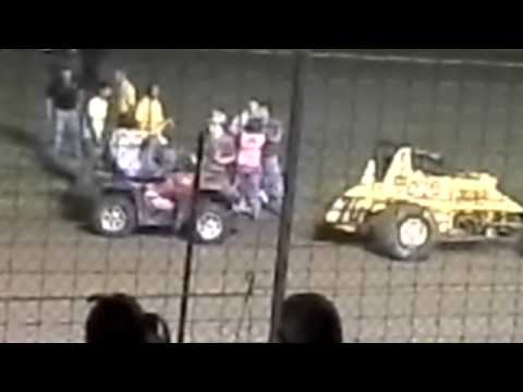"Paragon Speedway victory lane "" fight "" 06/08/13"