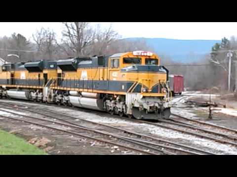 SWITCHING TRAIN ENGINES TO LIMESTONE SLURRY CARS