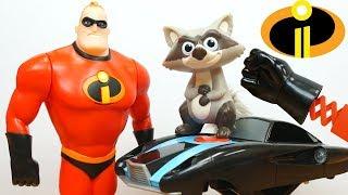 Incredibles 2 Toys Collection Jack Jack Elastigirl Dash Violet Fight Crime Video for Kids!