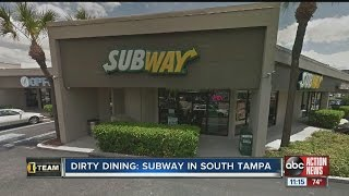 Dirty Dining: Subway temporarily closes after inspector sees 50+ live & dead roaches in the kitchen