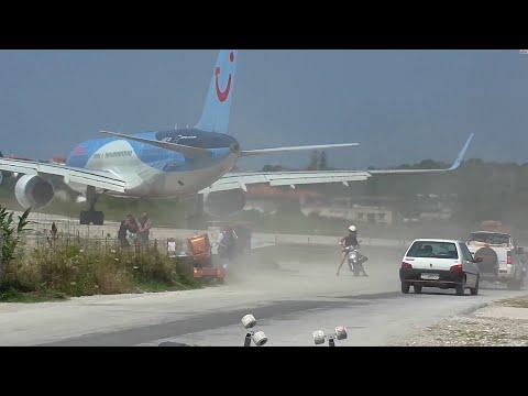 Skiathos. Dangerous Jet