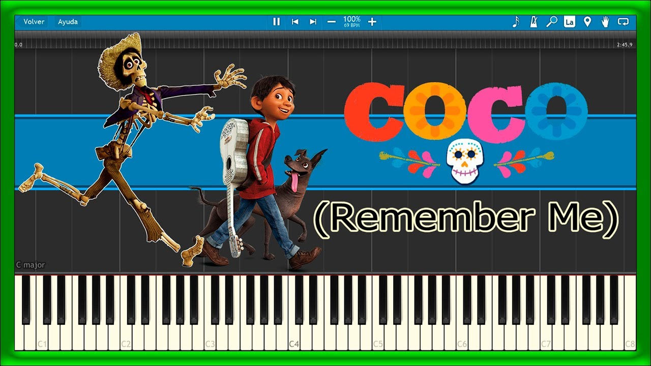 remember me coco piano tutorial youtube. Black Bedroom Furniture Sets. Home Design Ideas