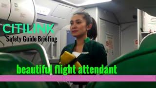 Citilink flight Attendant safety Guide Briefing #beautiful flight attendant