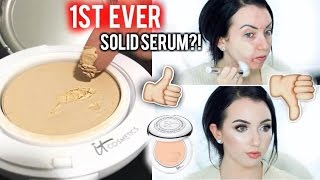 NEW IT COSMETICS CONFIDENCE IN A COMPACT Solid Serum Foundation {First Impression Review & Demo!}
