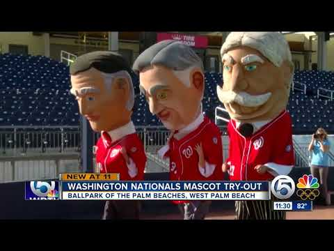 Washington Nationals hold spring training mascot try-out