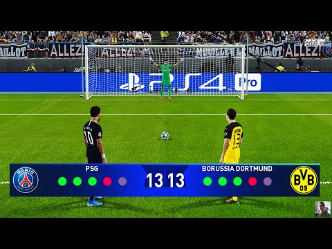 PES 2020 | PSG vs BORUSSIA DORTMUND | Penalty Shootout | UEFA Champions League UCL | Gameplay PC