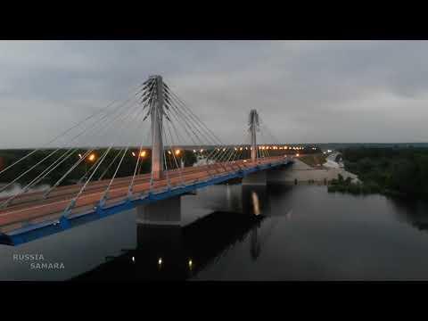 Кировский мост / разлив / река Самара / Russia