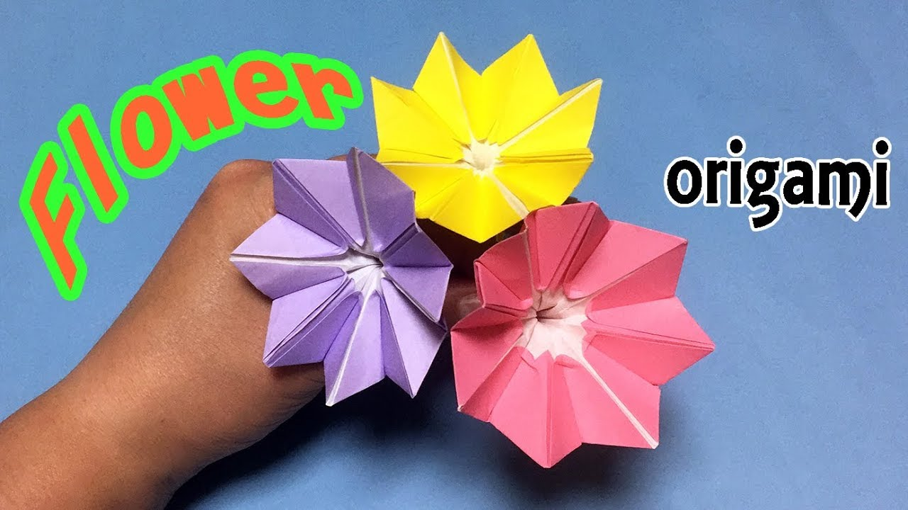 Make A Beautiful Paper Flower Easy But Cool Origami Flower For