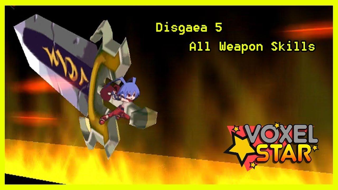 Disgaea 5: ALL WEAPON SKILLS