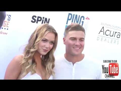 Kike Hernandez and Mariana Vicente at Clayton Kershaw's 4th Annual Ping Pong 4 Purpose Celebrity Tou