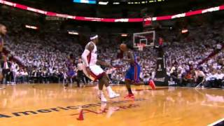 Tyson Chandler Flagrant Foul sets a hard pick on LeBron James who collapses to the ground