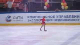 """Фигурное катание Angry Birds Skating Абалмазова Кристина 6 лет  Юный фигурист """"Осень в городе 2014"""""""