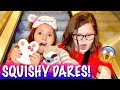 SQUISHY DARES AT THE MALL! OMG! We got in trouble! #SquishyDaresInPublic