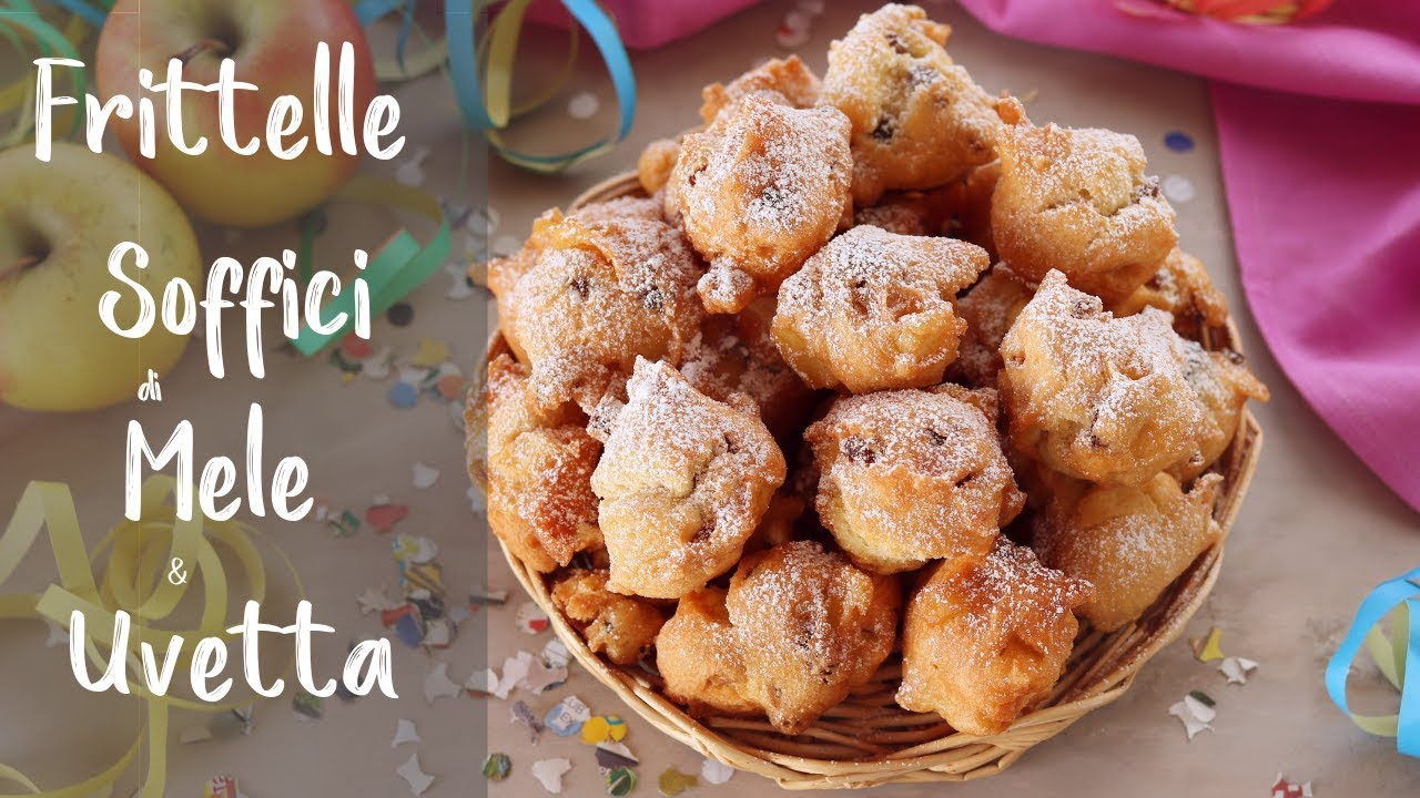 FRITTELLE SOFFICI DI MELE E UVETTA Ricetta Facile Per Carnevale - Fatto in casa da Benedetta
