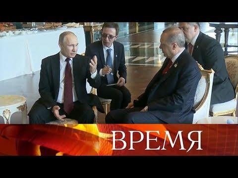 Президенты России и Турции дали старт началу строительства атомной электростанции «Аккую».