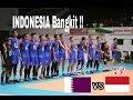Indonesia bangkit!! Indonesia vs Qatar  Asians voli 2017