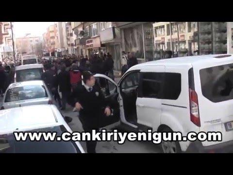 Çankırı'da Kürtçe slogan gerginliği