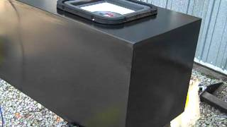 """custom subwoofer box with a pyle 10"""" square sub"""