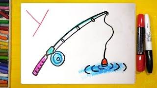 Рисуем АЛФАВИТ по БУКВАМ / Буквы Т У Ф Х / Уроки рисования для детей
