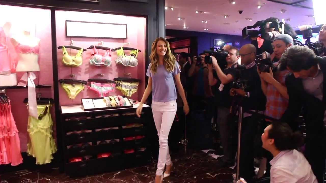 6c331d6265e52 Behati Prinsloo at the Victoria's Secret T-Shirt Bra Press