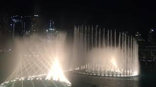 Шоу фонтанов, Дубай, шоу на Бурдж-Халифа, январь 2018